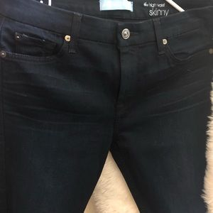 7 For All Mankind b Air high waist skinny jeans.